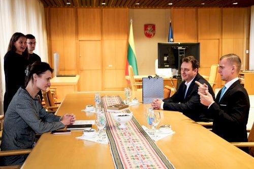 Susitikimas su LR Seimo pirmininke 2021-09-20