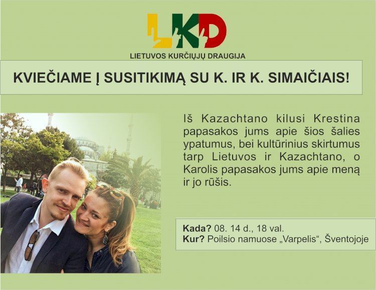 Kviečiame į susitikimą su K. ir K. Simaičiais Šventojoje!