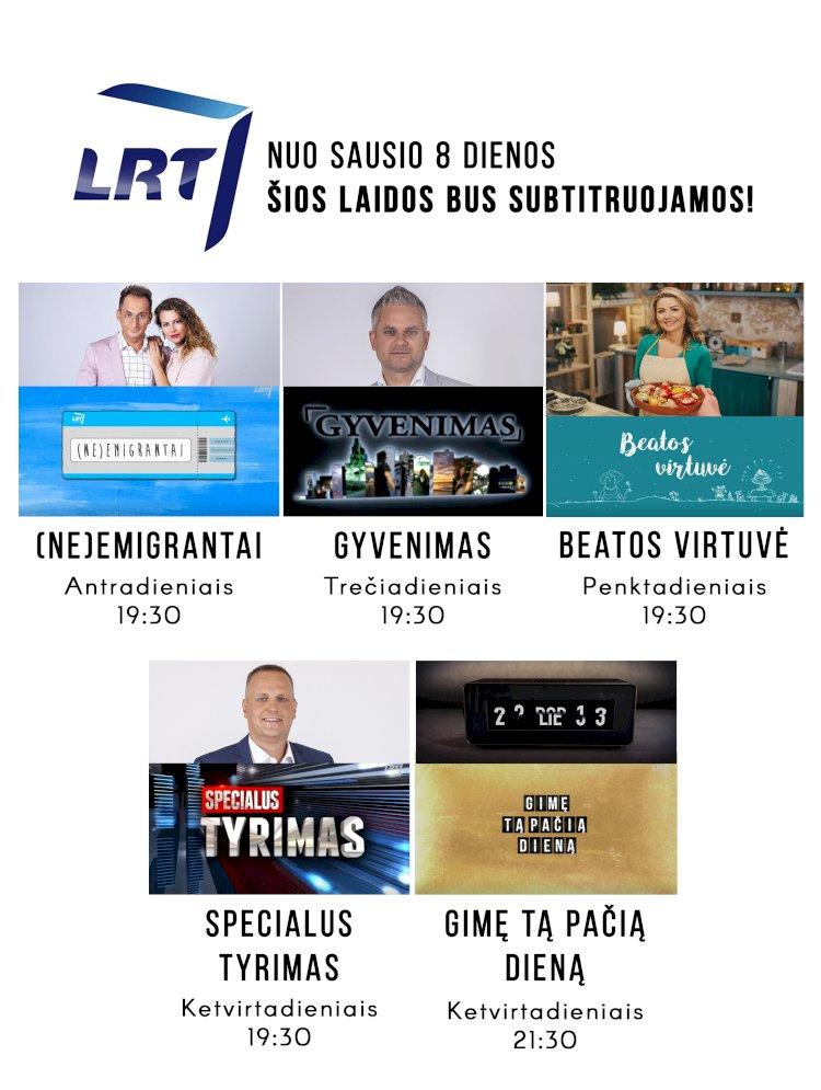 LRT bus subtitruojamos populiarios laidos