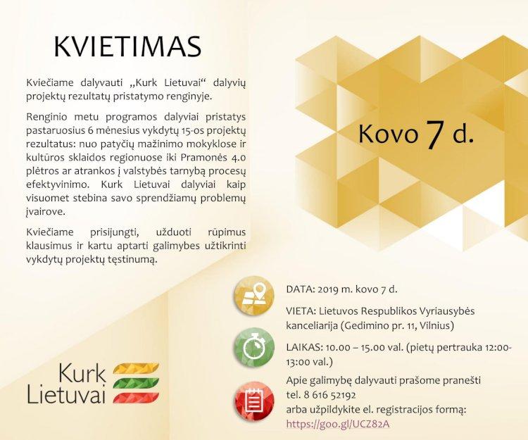 """""""Kurk Lietuvai"""" kviečia kurčiuosius į projektų rezultatų pristatymo renginį"""