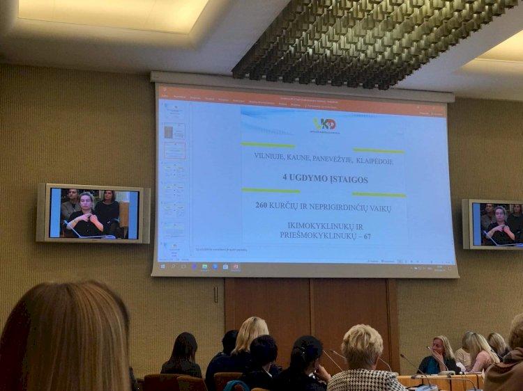 """Konferencija LR Seime """"Specialių poreikių turinčių vaikų ugdymo problemos ir perspektyvos"""""""