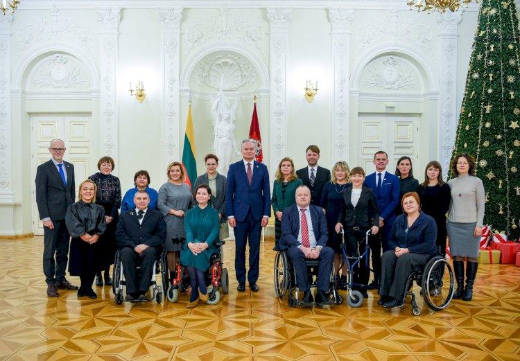 2019 - 12 - 02 d. LKD prezidentas Kęstutis Vaišnora susitiko su LR Prezidentu Gitanu Nausėda