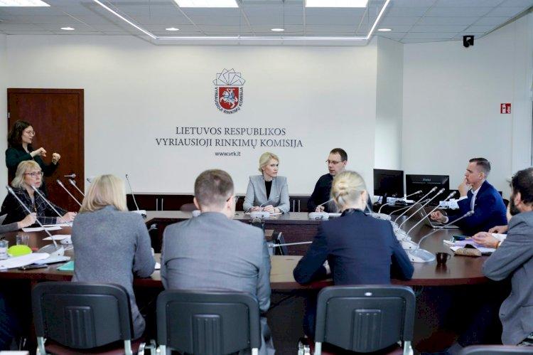2020 sausio 9 d. VRK vyko diskusija dėl 2020 m. Lietuvos Respublikos Seimo rinkimų