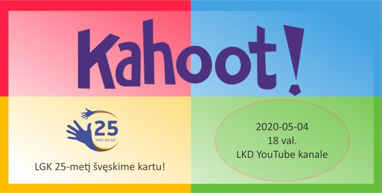 LGK 25-mečio šventinis Kahoot žaidimas